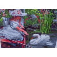 Девушка и лебедь (50х40)
