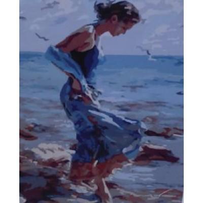Девушка у моря (40х50)