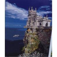 Замок на скале (40х50)