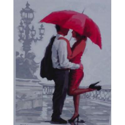 Под зонтом (40х50)