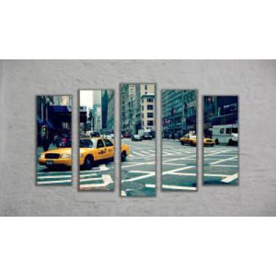 "Модульная картина ""Такси"" (130х70)"