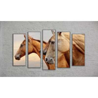 "Модульная картина ""Лошади"" (130х70)"