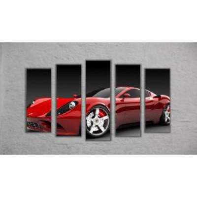 "Модульная картина ""Ferrari"" (130х70)"
