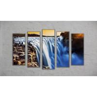 "Модульная картина ""Водопад"" (130х70)"