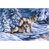 Серые волки (108х70) о/б
