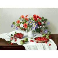 Цветы и ягоды (70х50) о/б