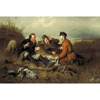 Три охотника (115х70) о/б
