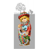 Мальчик с клоуном (35х85) д/б