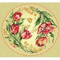 """Салфетка """"Венок тюльпаны"""" (46 см)"""