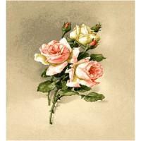 Букетик розы (25х30) о/б