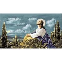 Иисус у камня (135х70) о/б