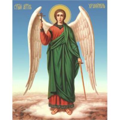 "Икона ""Ангел-хранитель"" (25х35) д/б"