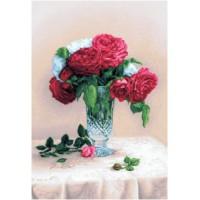 Красные розы (35х48) д/б