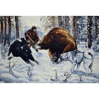Охота на медведя (100х70) д/б