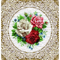 "Салфетка ""Три розы"" (35х35)"