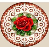 """Салфетка """"Роза круг"""" (25х25)"""