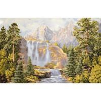 Водопад у гор (108х70) о/б