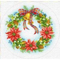 """Салфетка """"Счастливое Рождество (колокольчик)"""" (70 см.)"""