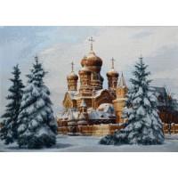 """Панно """"Утро перед Рождеством"""" (70х50)"""