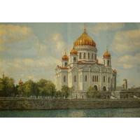 """Панно """"Храм Христа Спасителя"""" (80х50)"""