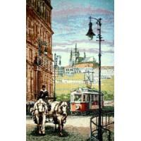 Старый трамвай (17х24) о/б