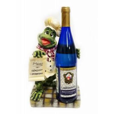 Подставка для бутылки, лягушка с меню