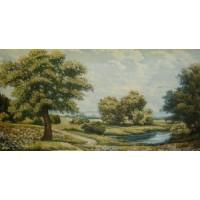 Одинокий дуб (73х37) о/б