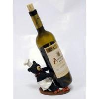 Подставка для бутылки, медведь-повар (держит бутылку перед собой)