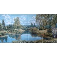 Пейзаж с березами (110х45) о/б