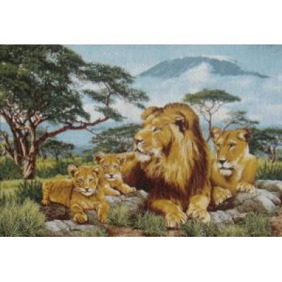 Африканские львы (110х70) о/б