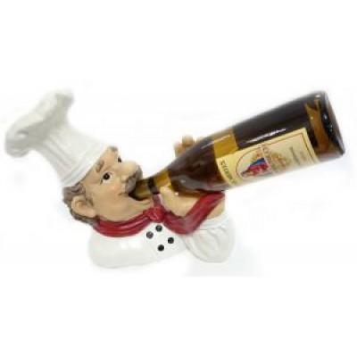 Подставка для бутылки, повар дегустирует