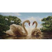 Два лебедя (120х60) д/б