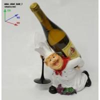 Подставка для бутылки, Повар (бутылка на спине, повар на коленях)