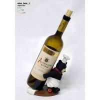 Подставка для бутылки, медведь-повар (поддерживает бутылку спиной)