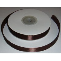 Атласная лента коричневая (12 мм)