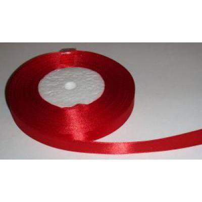 Атласная лента красная (12 мм)