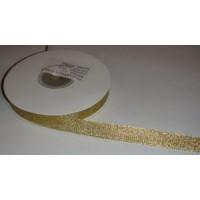 Атласная лента золото (12 мм)