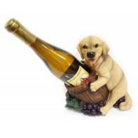Подставка для бутылки, щенок с бутылкой