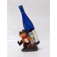 Подставка для бутылки, Ковбой (сидит, синяя жилетка)