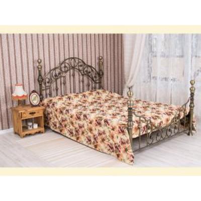 """Покрывало на двуспальную кровать """"Идиллия"""" из гобелена (2,25*2,20) на кровати с двумя спинками"""