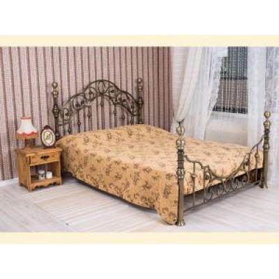"""Покрывало """"Этюд"""" из ткани с шениллом с подшивкой (2,25*2,20) на кровать с двумя спинками"""