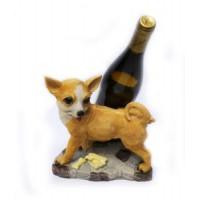 Подставка для бутылки, собачка писает на бутылку.