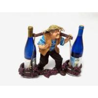 Подставка для бутылок, Фермер с коромыслом, синие штаны
