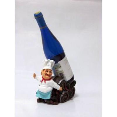 Подставка для бутылки, Повар тащит бутылку