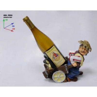 Подставка для бутылки, ВиноРикша везест бутылку на тележке